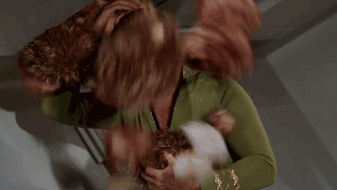Star Trek Kirk Gets Shitted On By Tribbles GIF